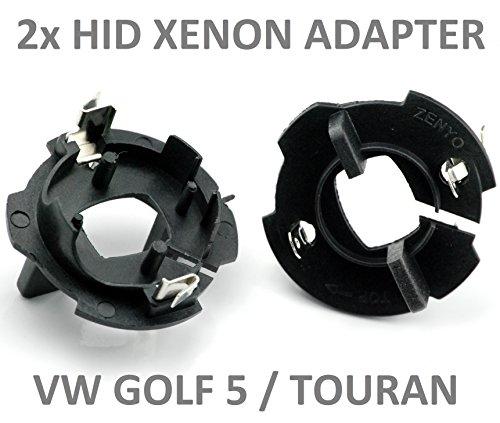 L&P B569 2 Stück HID Xenon Adapter Typ B Umrüstung Fassung Halter Lampenfassung für Xenonbrenner Brenner Lampen -