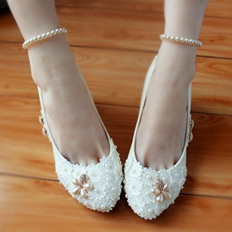 36820ea09a43e6 fenetres store intégré JINGXINSTORE Chaussures de mariée en dentelle or  blanc rouge rouge rouge perle à la main à
