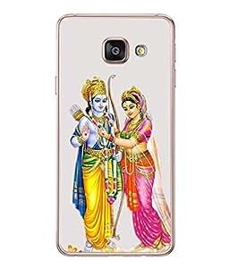 FUSON Designer Back Case Cover for Samsung Galaxy A3 (6) 2016 :: Samsung Galaxy A3 2016 Duos :: Samsung Galaxy A3 2016 A310F A310M A310Y :: Samsung Galaxy A3 A310 2016 Edition (Ramchandra Vivah King Maharaja Ayodhya Sita)