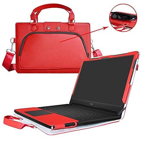 Inspiron 15 5559 5558 Housse,2 en 1 spécialement conçu Étui de protection en cuir PU + sac portable Sacoche pour 15.6