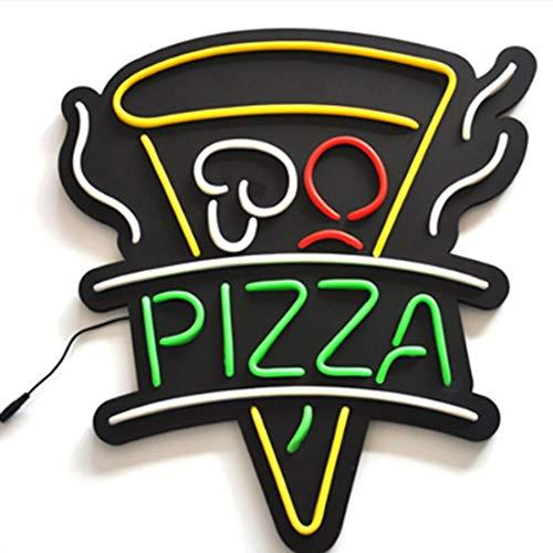 MOCHEN LED Neonlichter,Schaufensteranzeige Pizza Plakat öffnen Super helle Farbe Pizza Beleuchtung,Geeignet für Pizzerien [Energieklasse A +] -