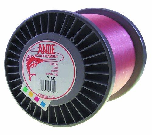 ANDE Premium-Monofilament-Line mit 11,3kg Test, Pink, Schlosserhammer, Spule (4000-yard)