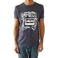 Camiseta de hombre Casete - Color Azul Denim Heather - Talla L - Regalo para hombre - Cumpleanos o San Valentin
