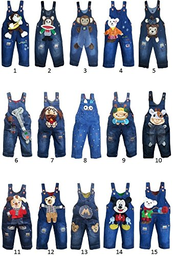 baby toddler boy girl unisex denim dungarees jeans playsuit 6-12 12-18 18-24 NEW (12-18 months, 3)