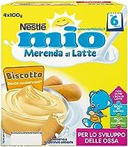 Nestlé Mio Merenda al Latte Biscotto, da 6 Mesi, 6 Confezioni da 4 Vasetti, 24 Vasetti
