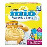 Nestlé Mio Merenda al Latte con Biscotto - Confezione da 4 x 100 gr