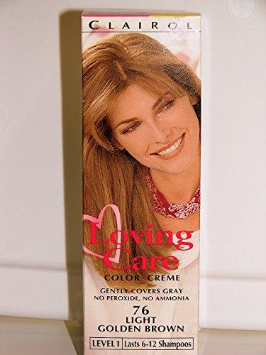 Clairol Lotion crème Loving Care pour coloration non permanente - Sans ammoniaque ni peroxyde - Couleur 76 - Châtain doré clair