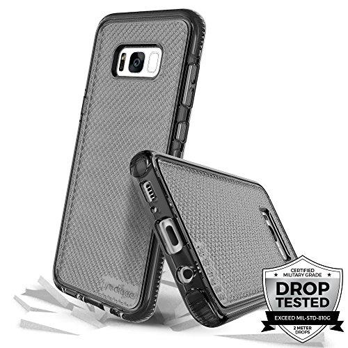 Prodigee [Safetee] For Samsung Galaxy S8 Cover Protective case schlank Handyhülle Fall Schutz dünn Hülle Stück dünner dünn, Smoke Gray Grey Clear Transparent 2 Meter Militär Drop Test zertifiziert