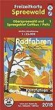 Freizeitkarte Spreewald - 1 (Ausgabe 2018): Oberspreewald und Spreegebiet Cottbus/Peitz