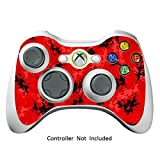 Xbox 360 Controller Designfolie Sticker - Vinyl Aufkleber Schutzfolie Skin für Xbox 360 Controller - Digicamo Red