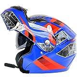 Adultos Bluetooth Moto Casco de la Motocicleta Antifogging Dual Lens Flip Up Cascos Off-Road...