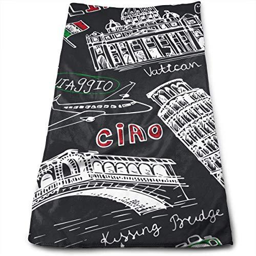 Hustor Vintage Italien Italienische Landmarks Home Badetücher Strandtücher Reisetücher Haartücher Sport Handtücher Auto Handtücher -