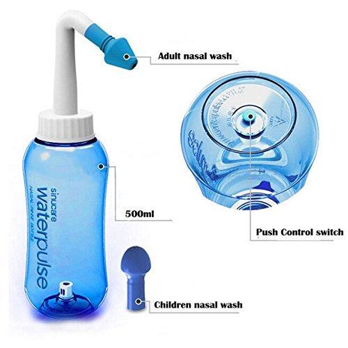 JOYOOO Nasendusche habe für Schnupfen / Allergie / Trockener Nase,Mithilfe des eingebauten Ventils Nasenspülkanne / Nasenreinigung / Nasenspülung bei Erkältung können Erwachsene als auch Kinder benutz