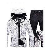 DCRYWRX Men's Windproof Waterproof Ski Suit, Men's Ski Suit,Black,S