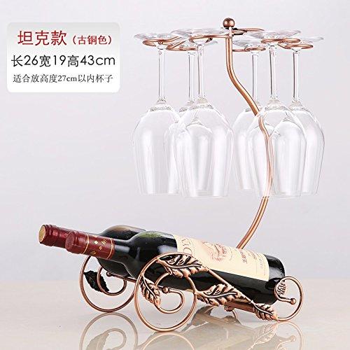Kelch Cupholder, personalisierte Eisen Weingestell, Weingestell (Farbe : Bronze)