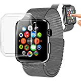 Orzly® - InvisiCase for APPLE WATCH (42 mm) - 100% CLEAR (100% Transparente Color) Shell Cover Funda de Protección para Lados y Pantalla - Para uso con el APPLE WATCH (Para 42mm Modelo de Todas las versiones 2015 - BASIC / SPORT / EDITION)