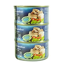 M Carrefour Tuna Chunk In Water - 3 x 185 gm