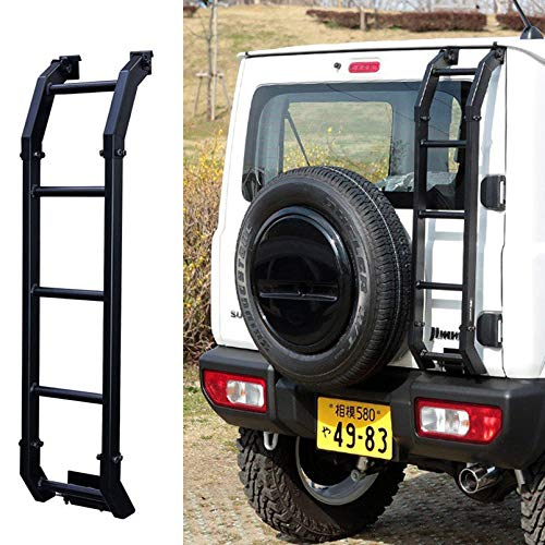 Bosmutus Aluminum Rear Door Ladder for S-UZUKI J-IMNY 2018-2019 JB64 JB74W 4WD Off-Road Rear Climbing L