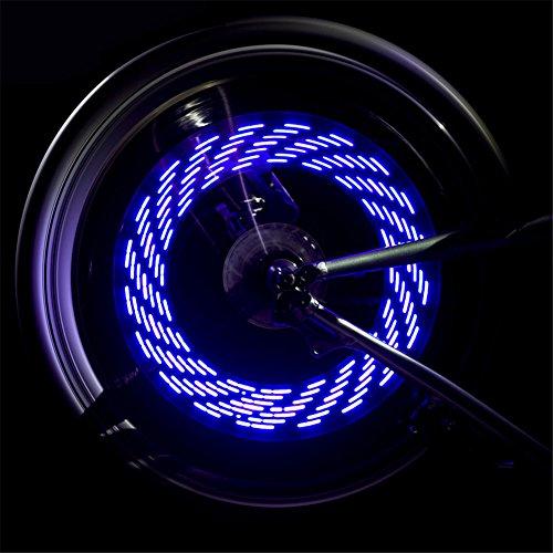 Blue Tyre Light Flash Valve Cap Led Lights Safety Wheel Lmeno Bike zVpqMSU