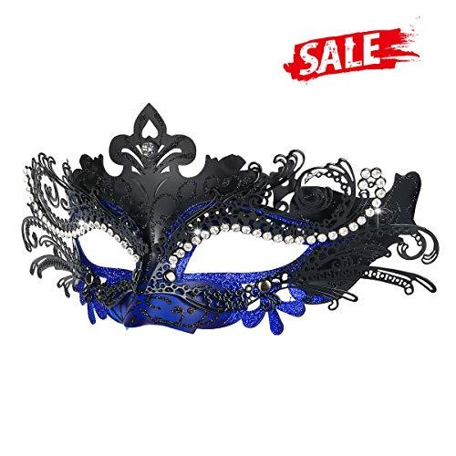 Hoshin Maskerade Maske, Karneval Dekorationen Venezianische Masken für Frauen (Blau & ()