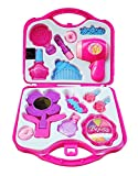 #8: Fashion Girl Beauty Set Makeup Toy with Mirror Hairdryer & Styling Accessories, Pretend Play Kids (PINK)