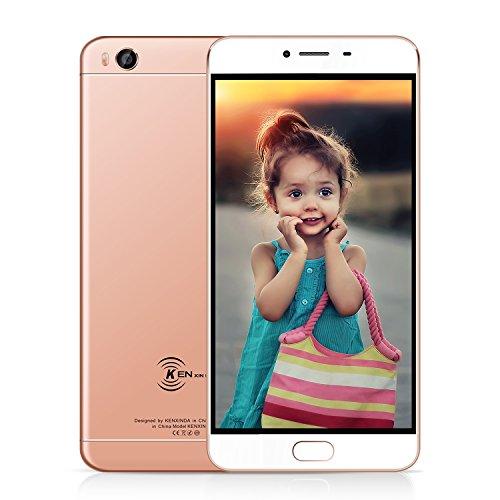 Günstiges smartphone ohne Vertrag, KEN V8 Dual SIM 4G Handys, Touchscreen digitales 5,5 Zoll Display, Fingerabdruck Sensor, 16 GB Speicher, Android 6.0, Batteriekapazität 3000 mAh Smartphone-preis In Indien