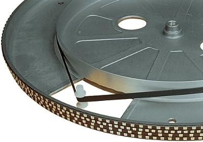 Electrovision–Correa de platino tourne-disques negra–Dimensiones: 166.5mm