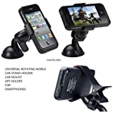 EASY4BUY® Universal Rotating Mobile Phone Holder Stand Car Mount For Smartphones GPS