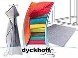 """Bio-Badezimmerserie """"Colori"""" - erhältlich als Handtuchserie und als Badteppichserie in 8 brillanten Farbkombinationen, Badteppich 60 x 100 cm, grau"""