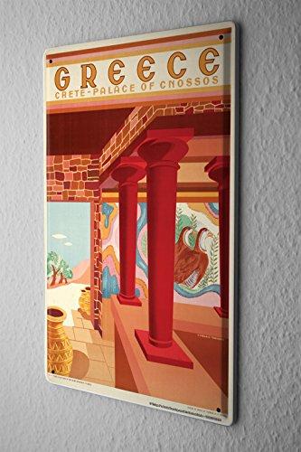 Preisvergleich Produktbild Blechschild Welt Reise Palast Knossos Griechenland Wand Deko Schild 20X30 cm