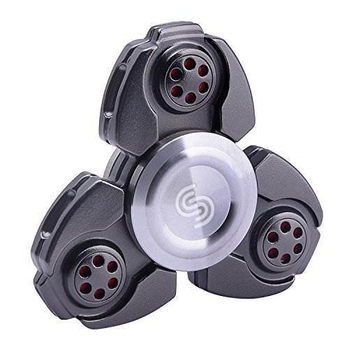 iGearPro Best Metal Fidget Spinner Hand Spinner, EDC Spinner Fidget Toys, Ultra Speed – Premium Bearing. Best Quality and Best Service. (Black)