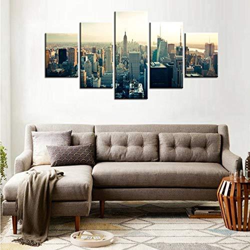 ZKLIB Manhattan Center Empire State Building Landschaft Wand Dekor Leinwand Malerei Moderne Hauptdekorationen Wandkunst Stadt Kunstwerk Geschenke