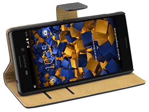 mumbi Tasche im Bookstyle für Sony Xperia M4 Aqua Tasche Zoom-3 Holster