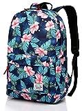 Best School Backpacks - Floral backpack,Vaschy Light-weight Daypack School Backpack for Teenage Review