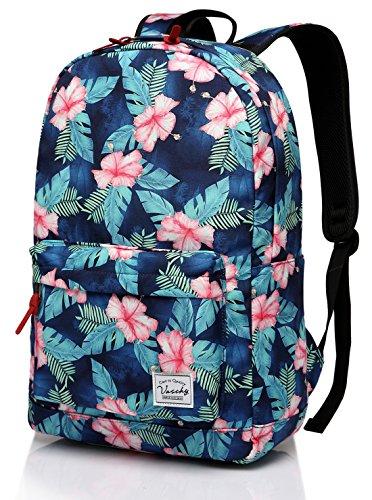 Mochila Floral, Vaschy Mochila de la Escuela de Daypack de Peso Ligero para Adolescentes Bolsas de Viaje