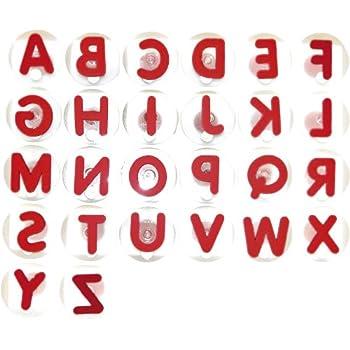 26 Lettres Detachables Alphabet Anglais En Plastique Set Tampon