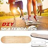 Ritapreaty Skateboard Decks, Planche de Skate Naturelle Double concave 8 Couches en Bois d'érable Vierge