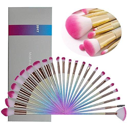 Lospu HY Makeup Brushes, 24Pcs Fantasy Make Up Set Foundation Eyebrow Concealer Cosmetic Eyeshadow Blush Face Powder Foundation Highlighter Brush