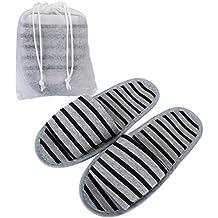 Mangostyle 5 Paia SET Pantofole da Viaggio con sacchetti di Stoccaggio  Ciabatte Portatile Pieghevole Antiscivolo Unisex b5d900d2749