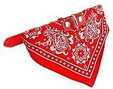 AGIA TEX Hundehalsband mit Hals-Tuch verstellbar Bandana für Hund Katze Farbe Rot Größe M = 44,5 cm lang