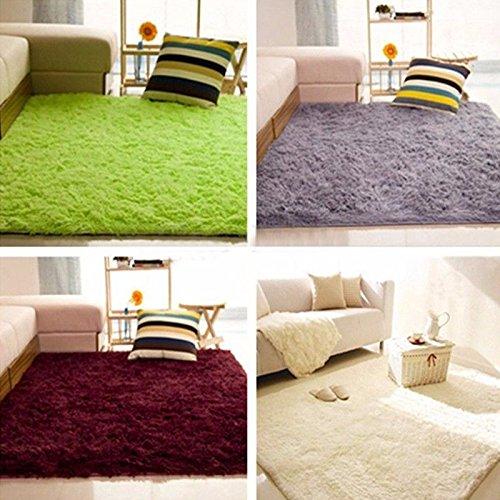 Burgund: 10Farben rutschfeste flauschig Badteppich Eingang Hall Teppich Teppiche Shaggy Bereich Matten Teppich Esszimmer Schlafzimmer Boden Teppich 80x 200cm
