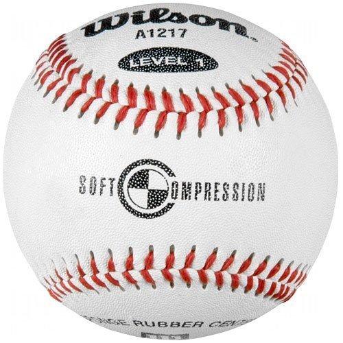 Wilson A1217Weiche Kompression Baseball, Weiß