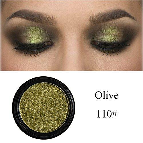 Berrose-Glitter Shimmering Colours Eyeshadow Metallic Eye Cosmetic Schminkpalette Mit Schminkspiegel