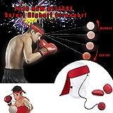 Kampf-Ball-Reflex-Boxsack-Boxhandschuhe und Trainingsball auf Schnur für verbessern Reflexe Handgesc