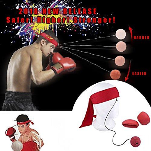 Kampf-Ball-Reflex-Boxsack-Boxhandschuhe und Trainingsball auf Schnur für verbessern Reflexe Handgesc (Release Ball Seil)