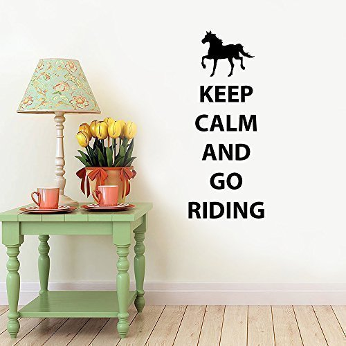 51JLk9i%2BlPL BEST BUY UK #1Keep Calm and Keep Riding Horse Self adhesive Childrens Wall Sticker Decal Wall Art Vinyl   Black price Reviews uk