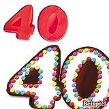 Backformen-Set Zahl 4 und 0 für 40. Geburtstag/Hochzeitstag, Silikonbackformen