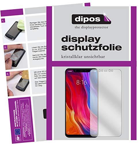 dipos I 6X Schutzfolie klar passend für Xiaomi Mi 8 Folie Bildschirmschutzfolie