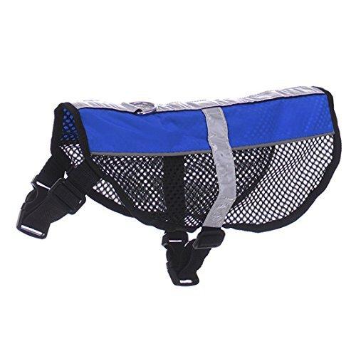 DealMux Service-Hund Netzbody Harness kühlen Komfort Nylon für Hunde Klein Mittel Groß Kauf High Visibility Sicherheitsjacke (Kleine Service-hund Harness)