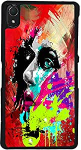 PrintVisa D7789 Girly Art Pattern Case Cover for Sony Xperia Z2 (Multicolour)